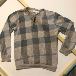 NEW Burberry Light Cashmere Cotton Blend Sweater